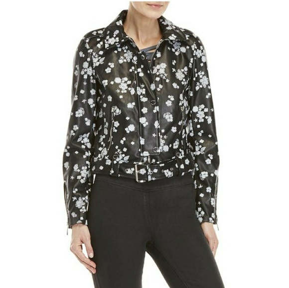 MICHAEL Michael Kors Jackets & Blazers - MICHAEL Michael Kors Floral Faux Leather Jacket